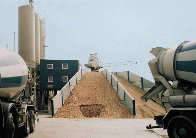 TEKA Mixomat Batching Plant Stockpile