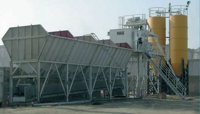 TEKA Transmix Batching Plant Aggregate In-line Silo System