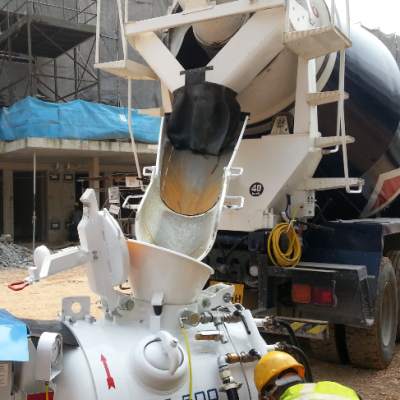 MM VSE500 Sand Screed Mixer Pump Truck Work Site
