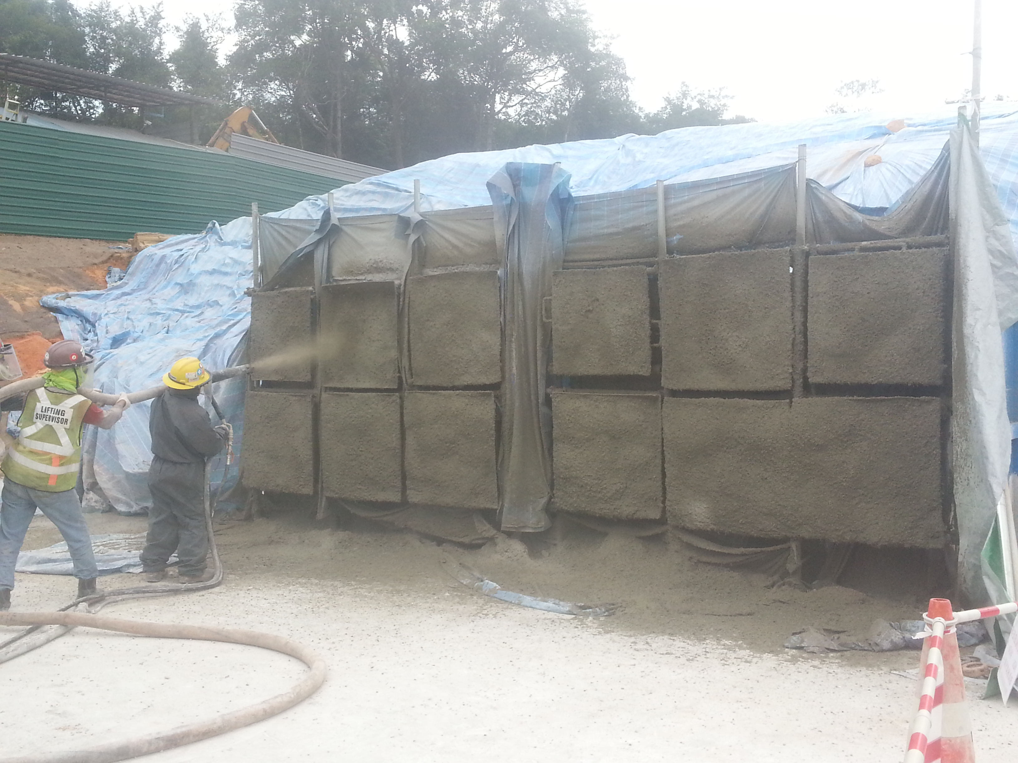 Reed Pump Shotcrete Trial Test