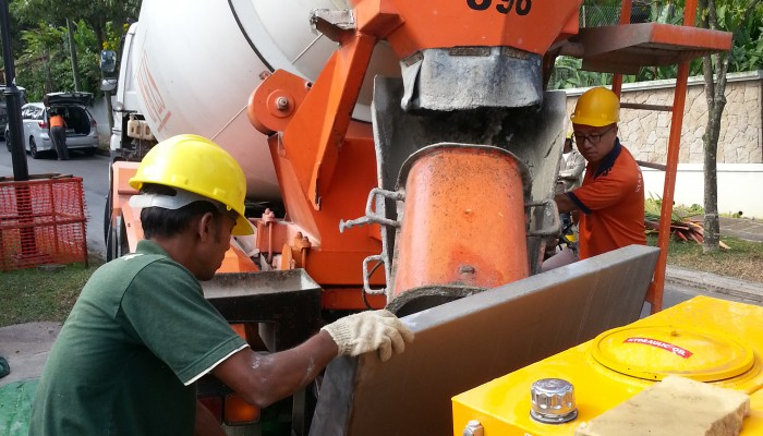 Reed A40HP Concrete at Singapore Residential Project