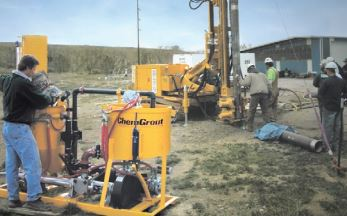 ChemGrout Grouting Equipment Worksite