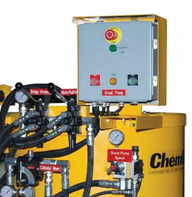 ChemGrout Grouting Equipment Control Panel