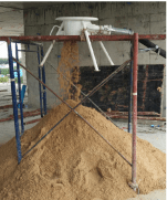 MM VSE500 Discharge Hopper Work Site