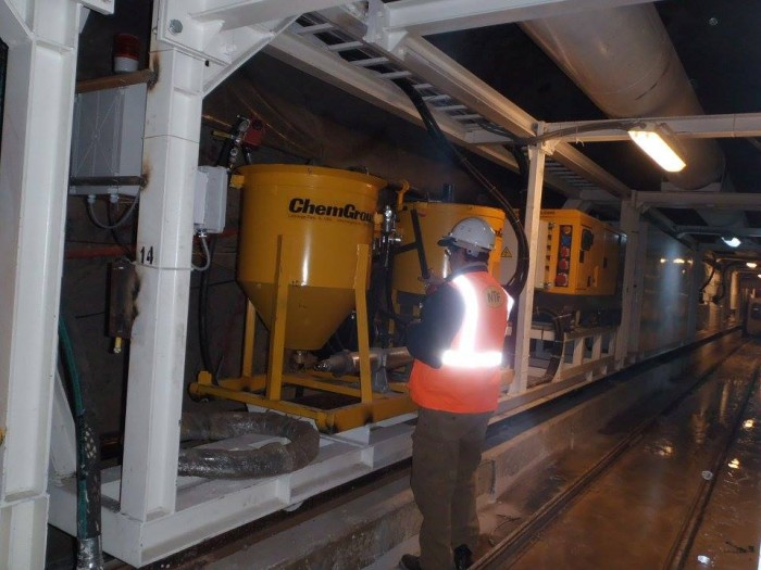 Tunnel Boring Machine Project Singapore ChemGrout Mixer Cement