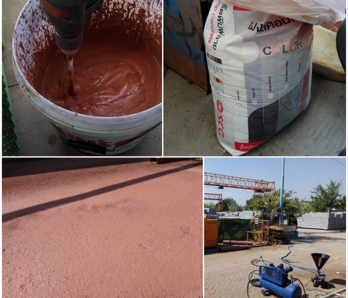 SCG Material MAI 2Pump Pictor Application Color Concrete