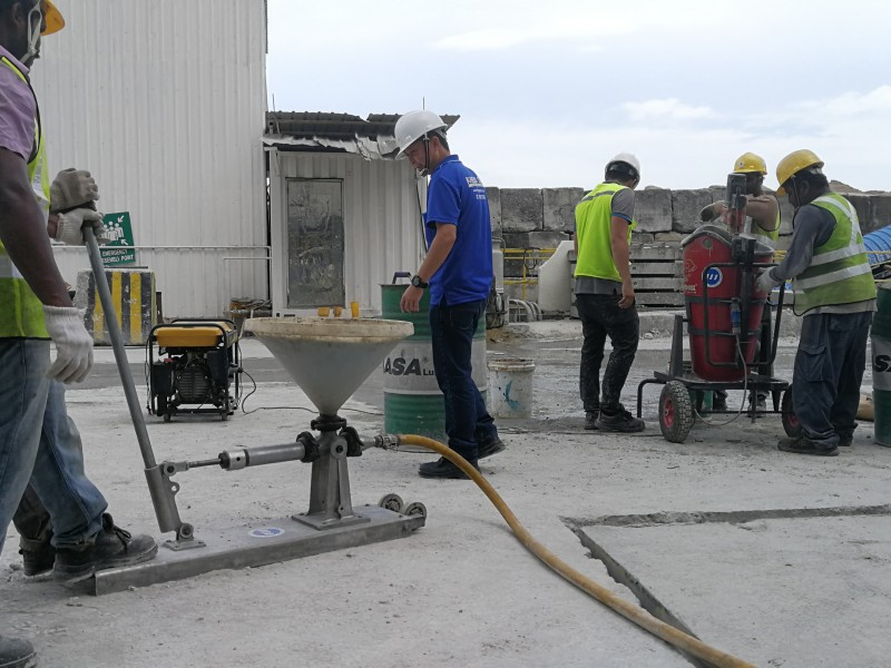 Slabjacking Material Spraying Waterproof Pictor Chemgrout Grounting Pump Test
