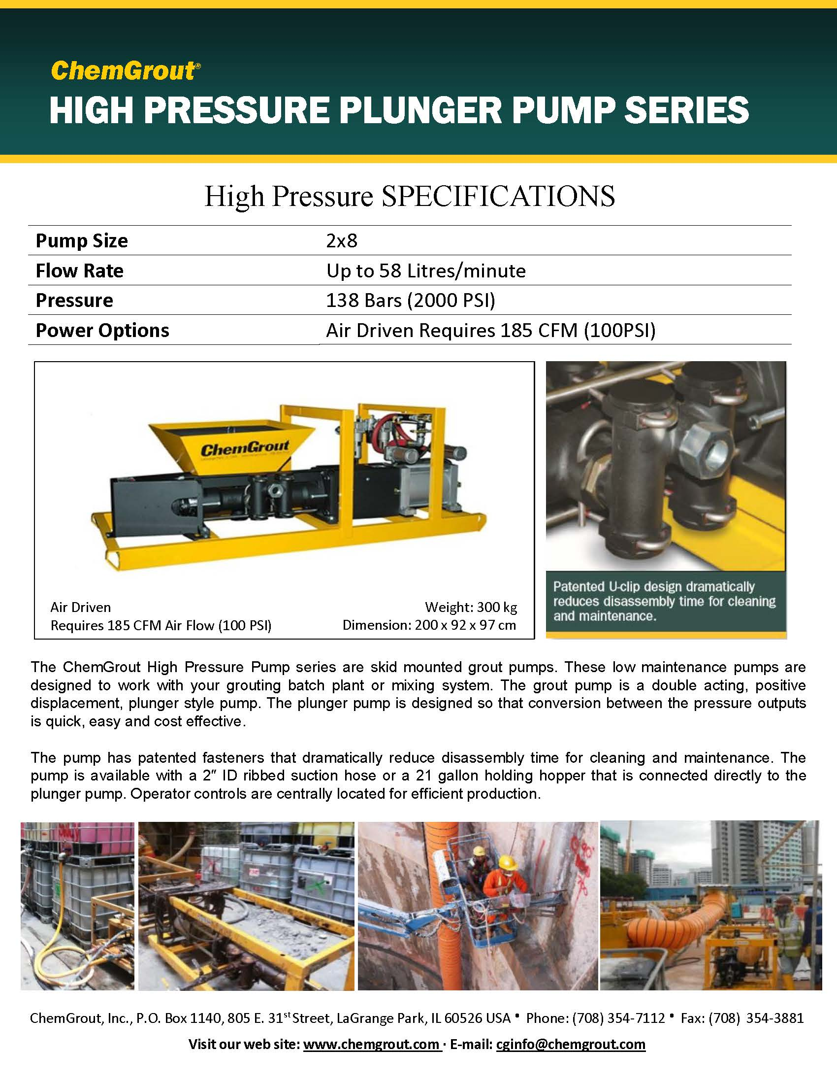 ChemGrout 2x8 Plunger Pump Brochure