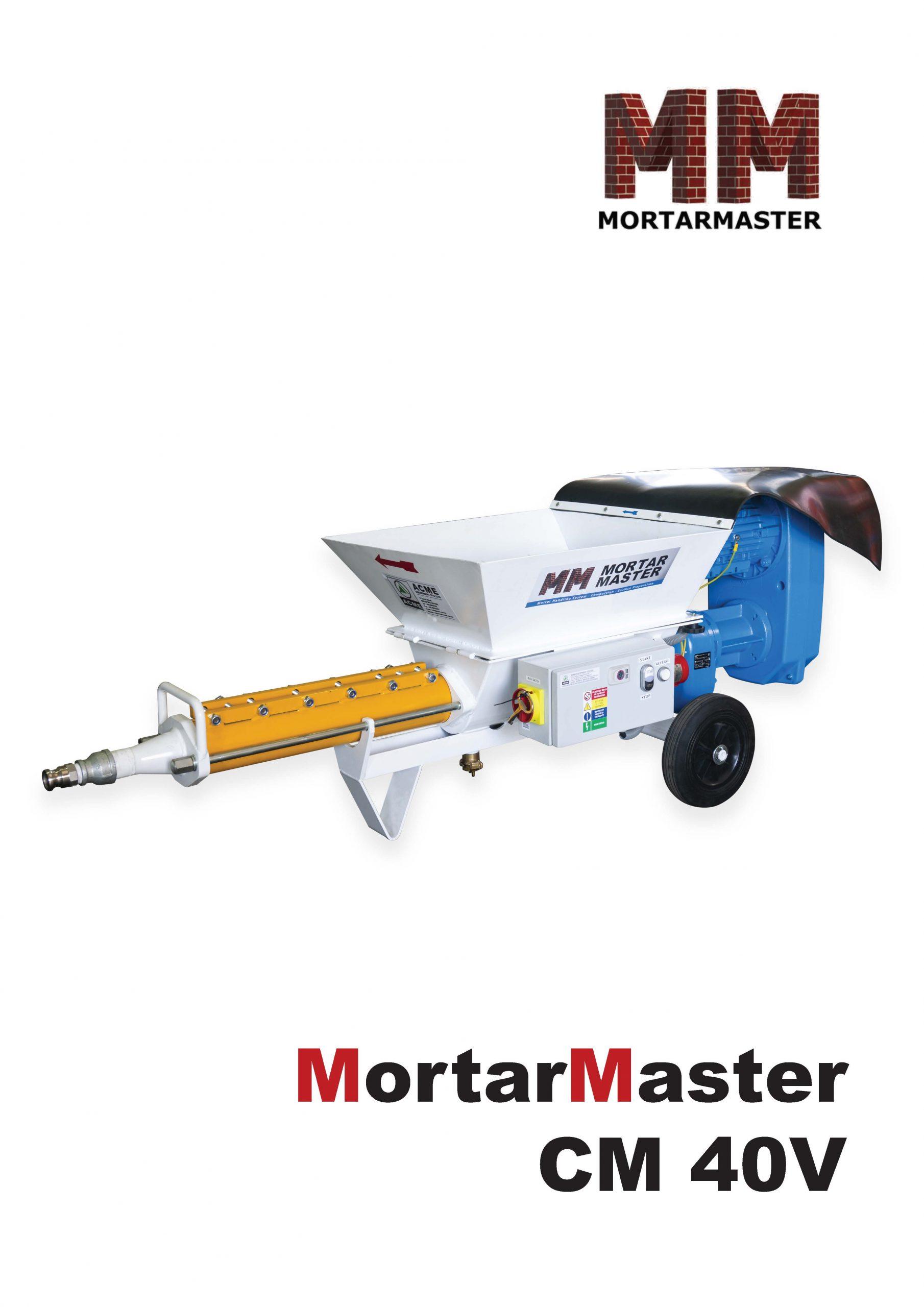 Mortar Master CM40V Brochure