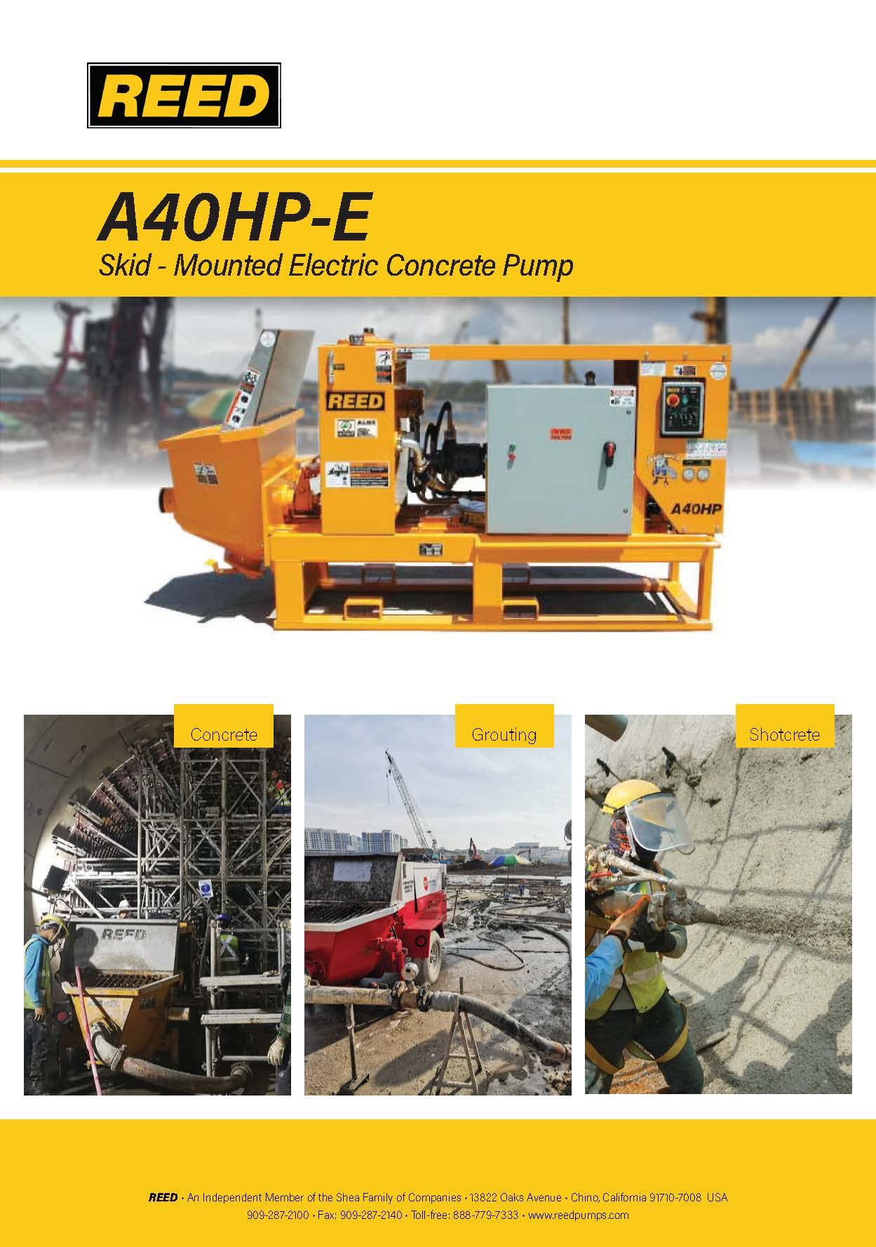 REED A40HP-E Brochure