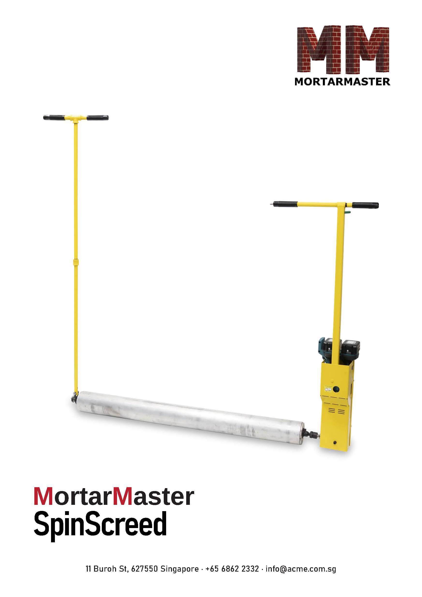 Mortar Master SpinScreed Roller Screed Brochure
