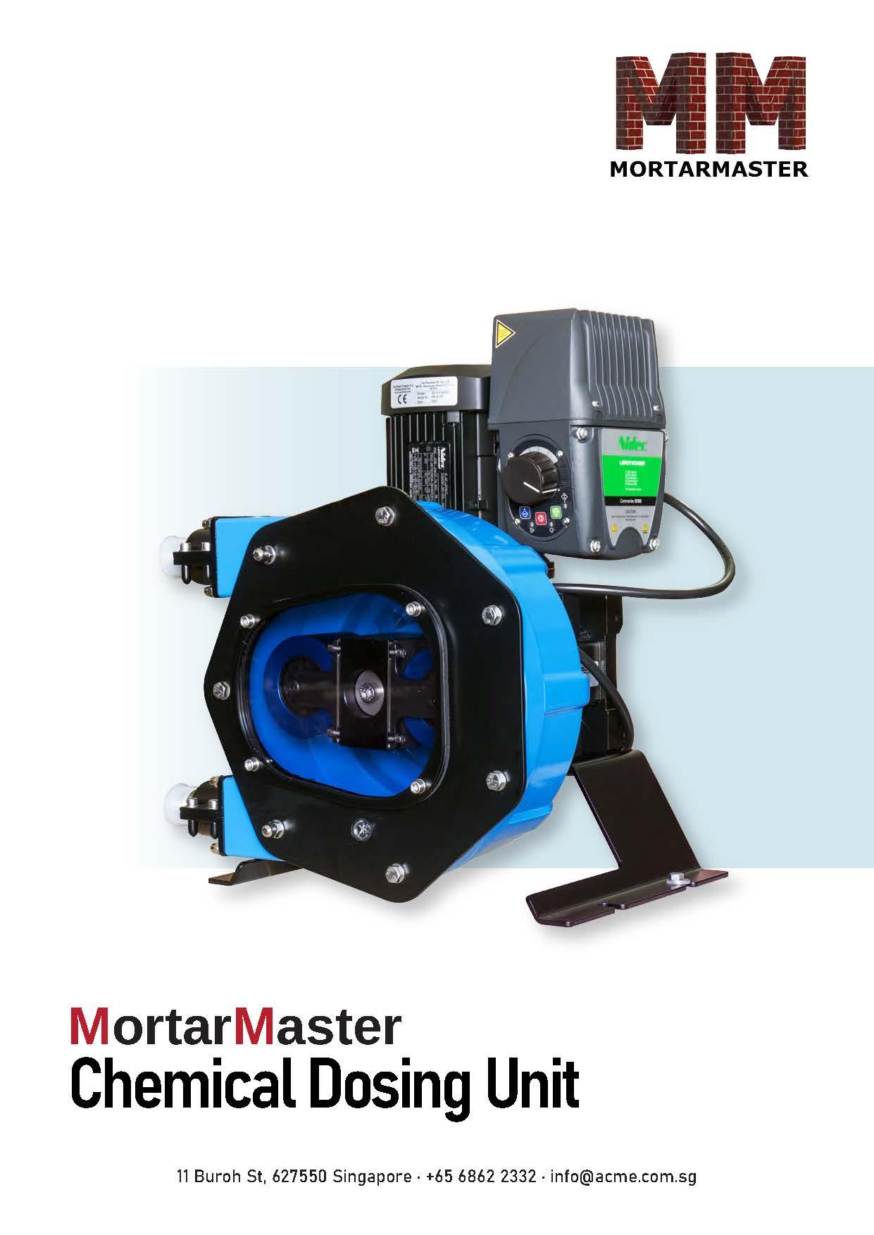 Mortar Master Chemical Dosing Unit Brochure
