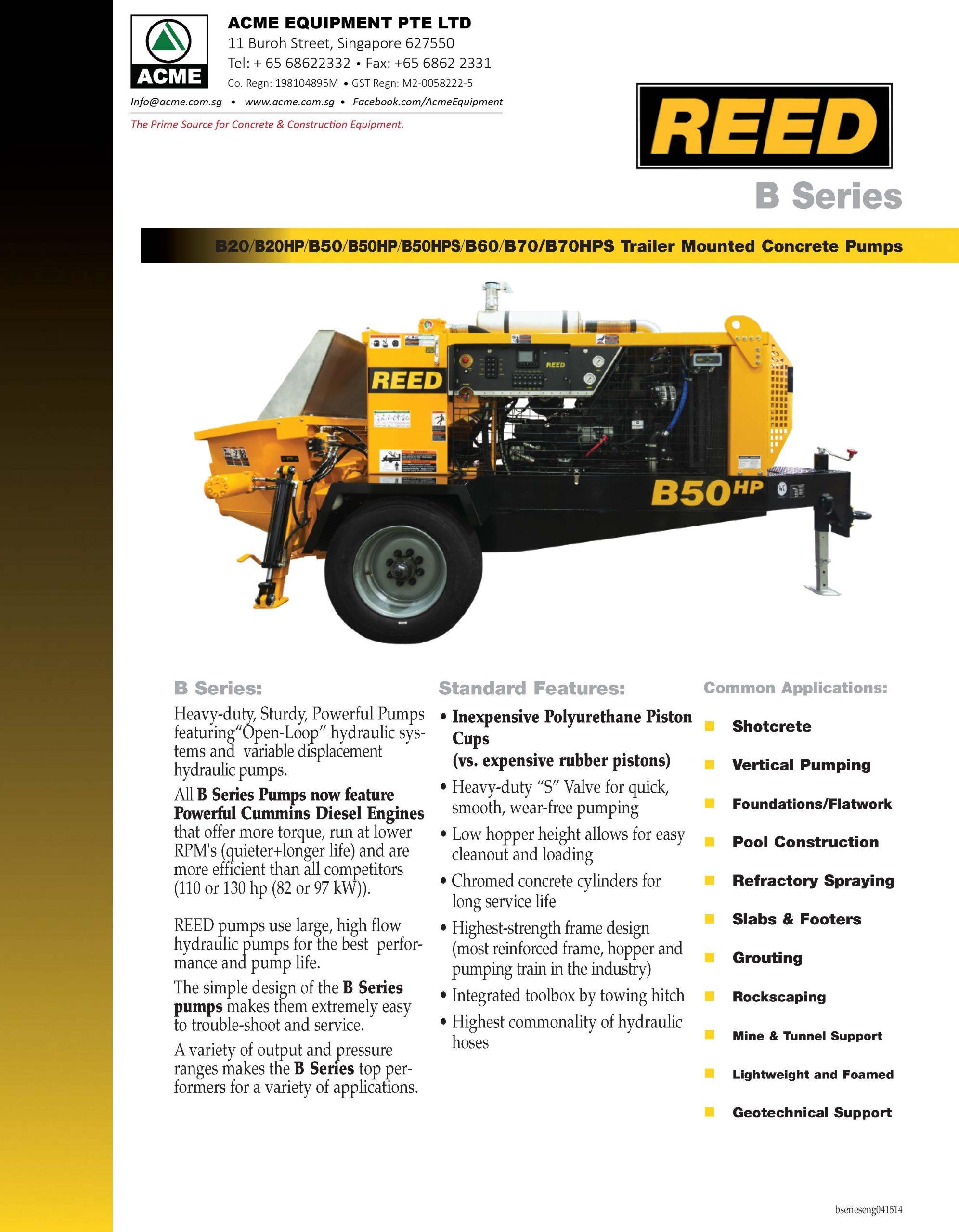 REED B Series Brochure