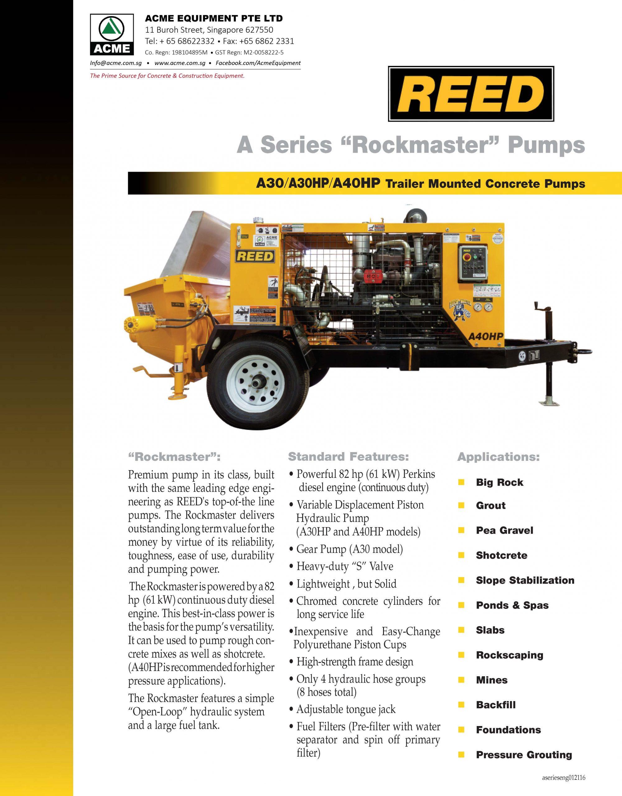 REED A Series Brochure