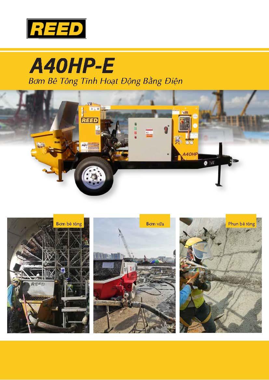 REED A40HP-E Electric Concrete Pump Vietnamese Brochure